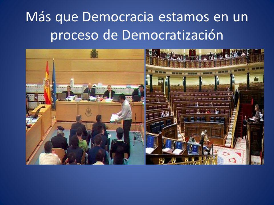 Más que Democracia estamos en un proceso de Democratización