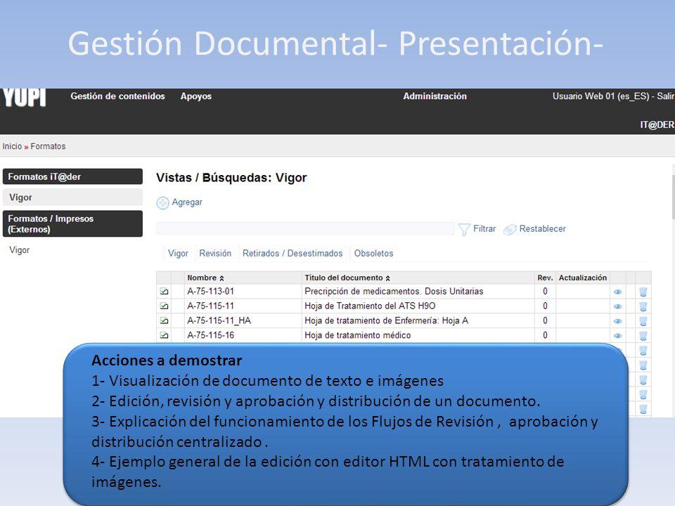 Gestión Documental- Presentación- Acciones a demostrar 1- Visualización de Registro general.