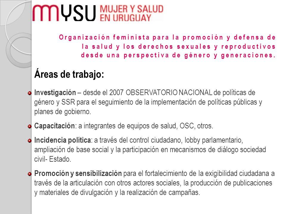 Organización feminista para la promoción y defensa de la salud y los derechos sexuales y reproductivos desde una perspectiva de género y generaciones.