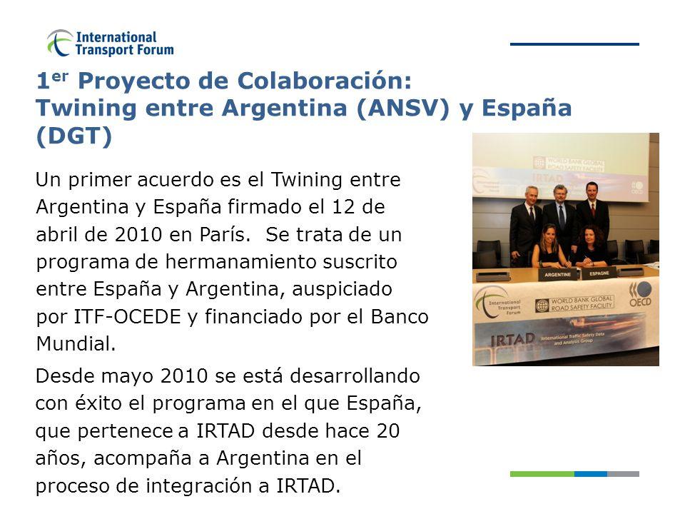 Un primer acuerdo es el Twining entre Argentina y España firmado el 12 de abril de 2010 en París.