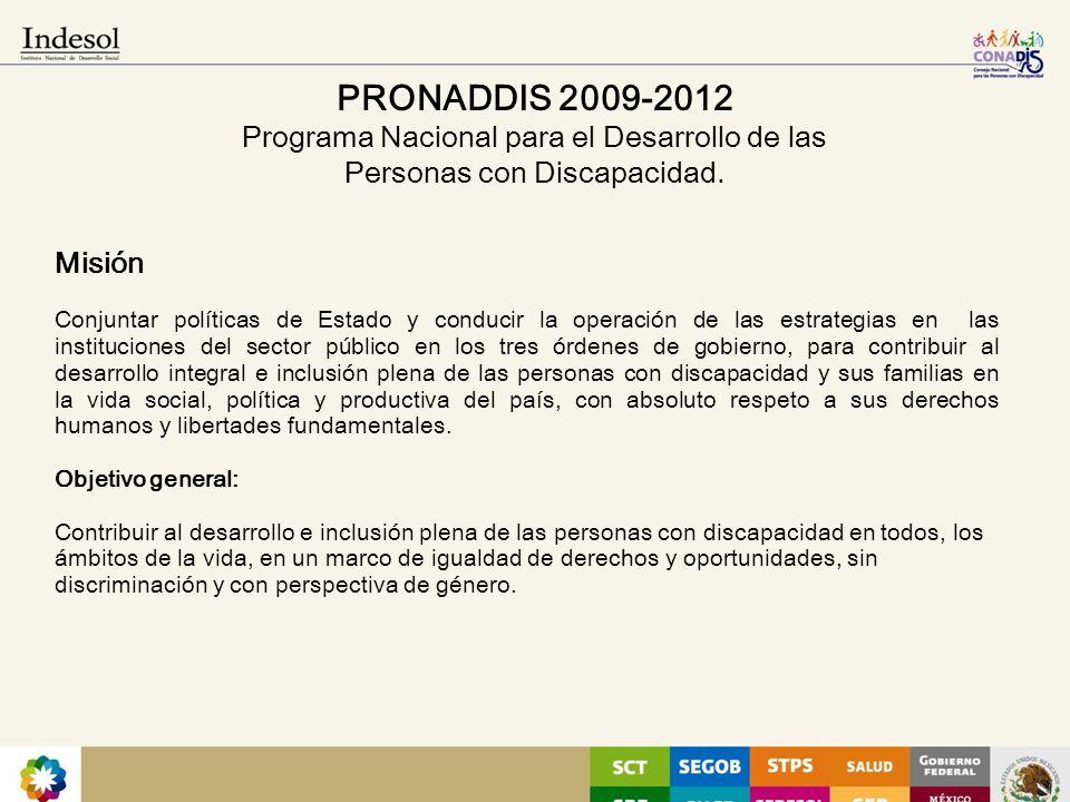 09/03/10 PRONADDIS 2009-2012 Programa Nacional para el Desarrollo de las Personas con Discapacidad.