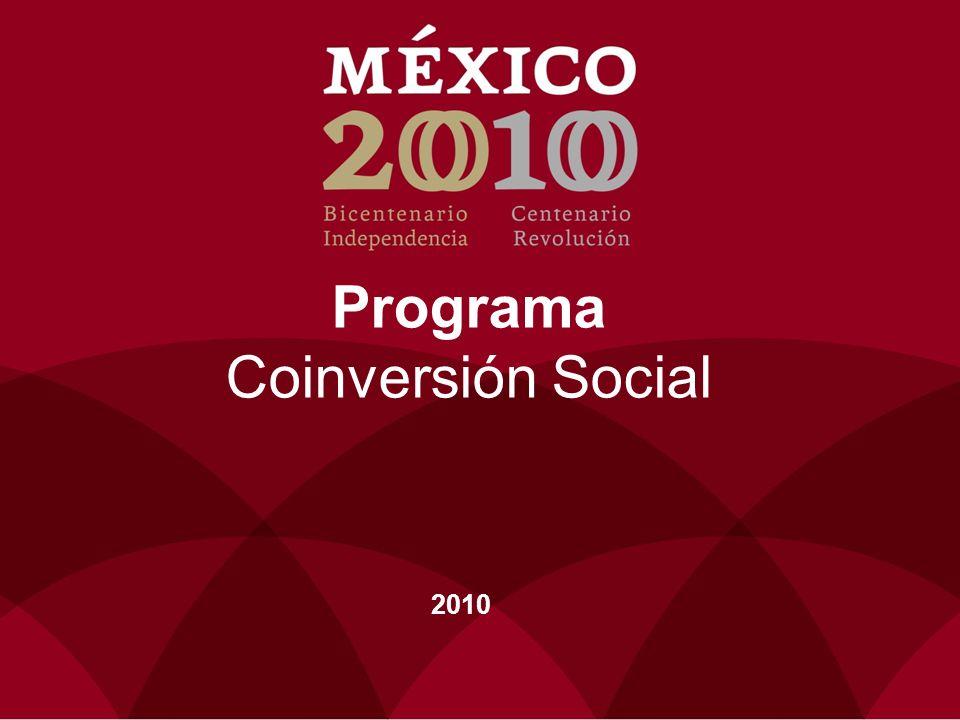 Programa Coinversión Social 2010
