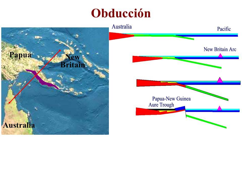 Obducción Papua New Britain Australia