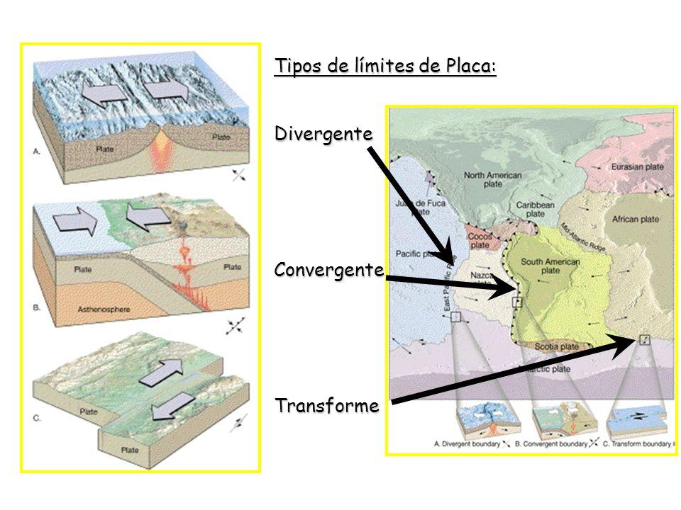 Tipos de límites de Placa: DivergenteConvergenteTransforme
