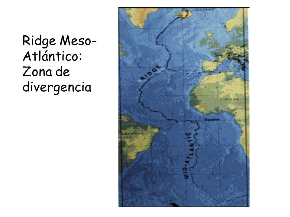 Ridge Meso- Atlántico: Zona de divergencia