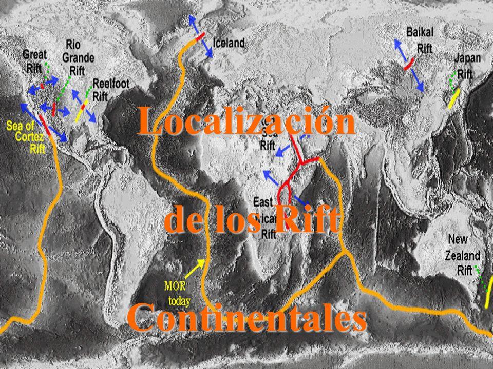Localización de los Rift Continentales