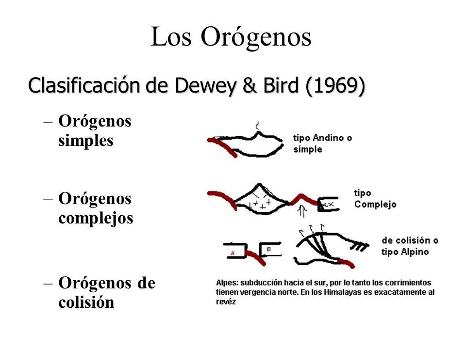 Los Orógenos –Orógenos simples –Orógenos complejos –Orógenos de colisión Clasificación de Dewey & Bird (1969)
