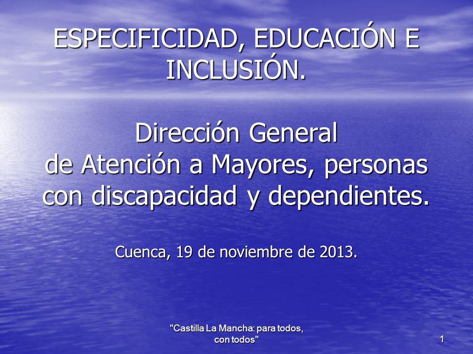 ESPECIFICIDAD, EDUCACIÓN E INCLUSIÓN.