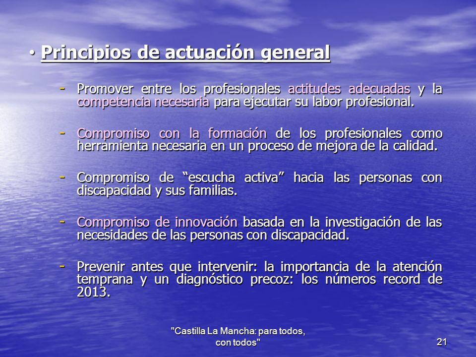 Principios de actuación general Principios de actuación general - Promover entre los profesionales actitudes adecuadas y la competencia necesaria para ejecutar su labor profesional.
