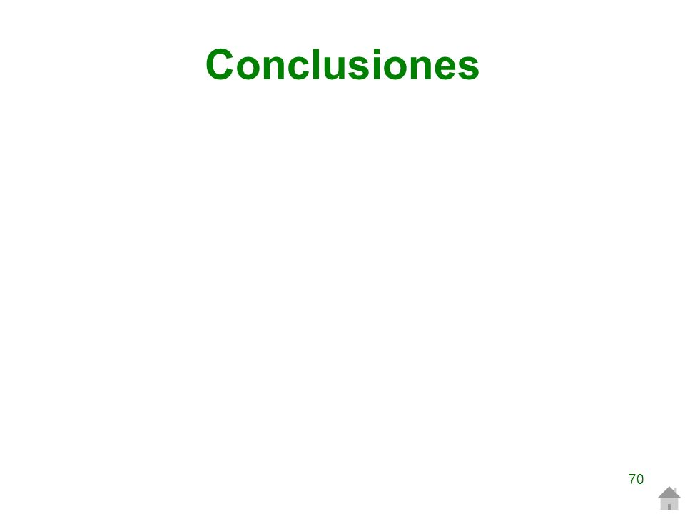 Conclusiones 70