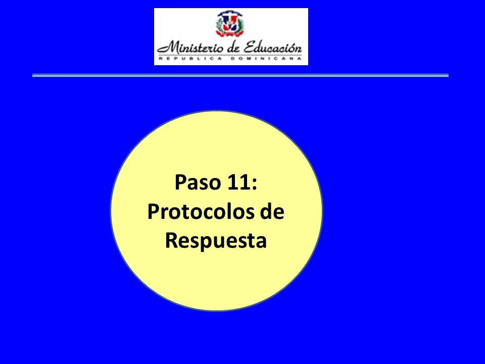 Paso 11: Protocolos de Respuesta