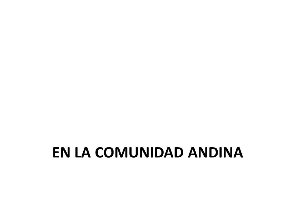 EN LA COMUNIDAD ANDINA