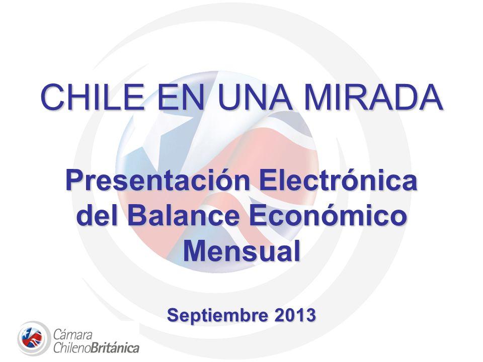 CHILE EN UNA MIRADA Presentación Electrónica del Balance Económico Mensual Septiembre 2013