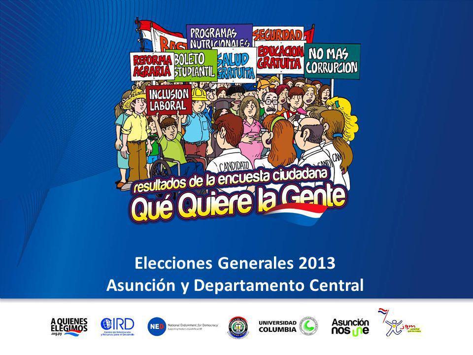 Elecciones Generales 2013 Asunción y Departamento Central