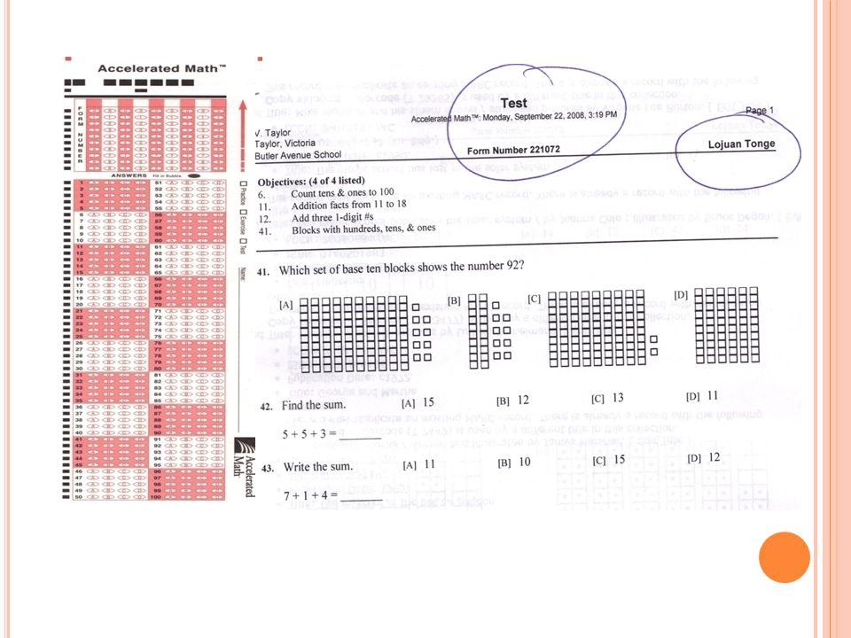 8 E L REPORTE TOPS El Reporte TOPS da una retroalimentación inmediata sobre el desempeňo de cada estudiante.