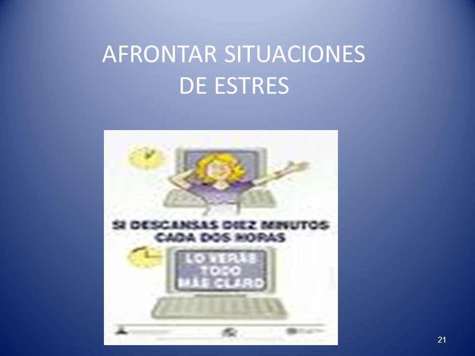 AFRONTAR SITUACIONES DE ESTRES 21CGC