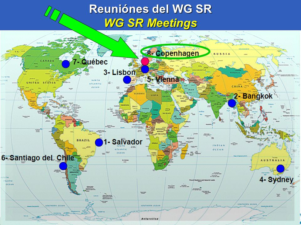 41 Reuniónes del WG SR WG SR Meetings