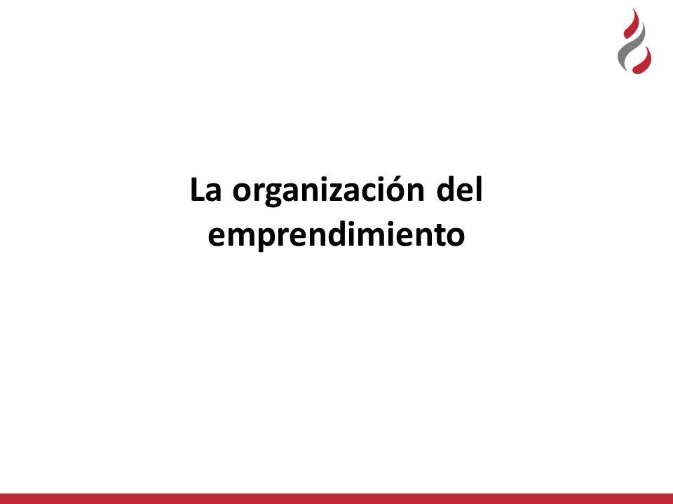 La organización del emprendimiento