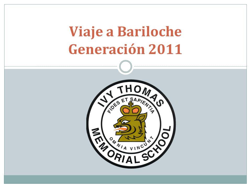 Viaje a Bariloche Generación 2011