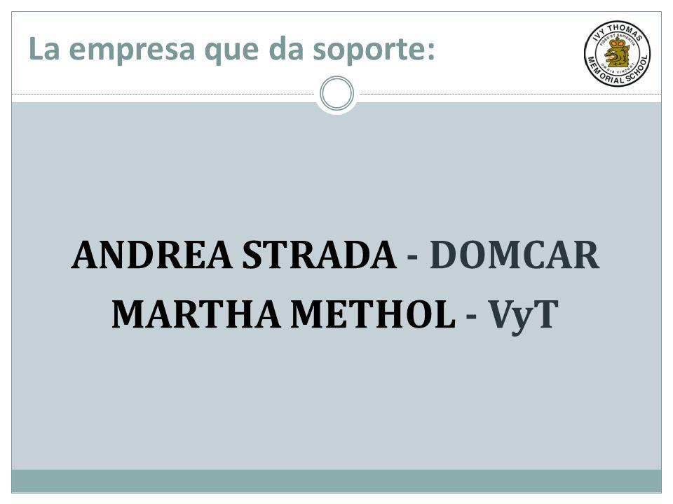 La empresa que da soporte: ANDREA STRADA - DOMCAR MARTHA METHOL - VyT