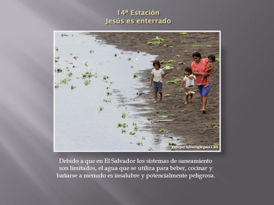 Debido a que en El Salvador los sistemas de saneamiento son limitados, el agua que se utiliza para beber, cocinar y bañarse a menudo es insalubre y po