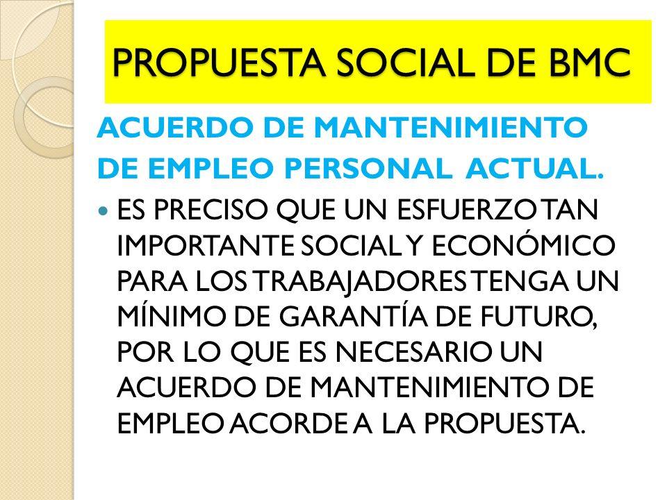 ACUERDO DE MANTENIMIENTO DE EMPLEO PERSONAL ACTUAL.
