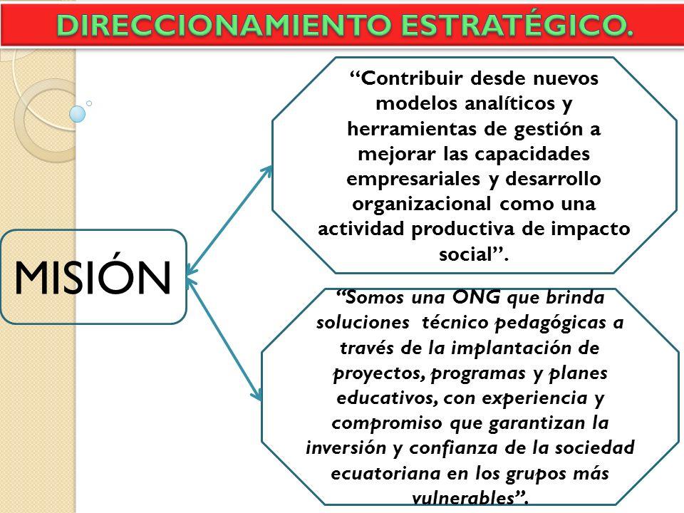 MISIÓN Contribuir desde nuevos modelos analíticos y herramientas de gestión a mejorar las capacidades empresariales y desarrollo organizacional como u