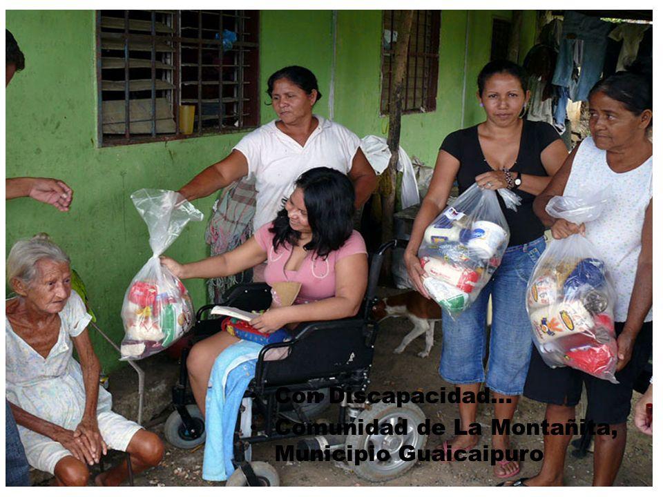 Con Discapacidad… Comunidad de La Montañita, Municipio Guaicaipuro