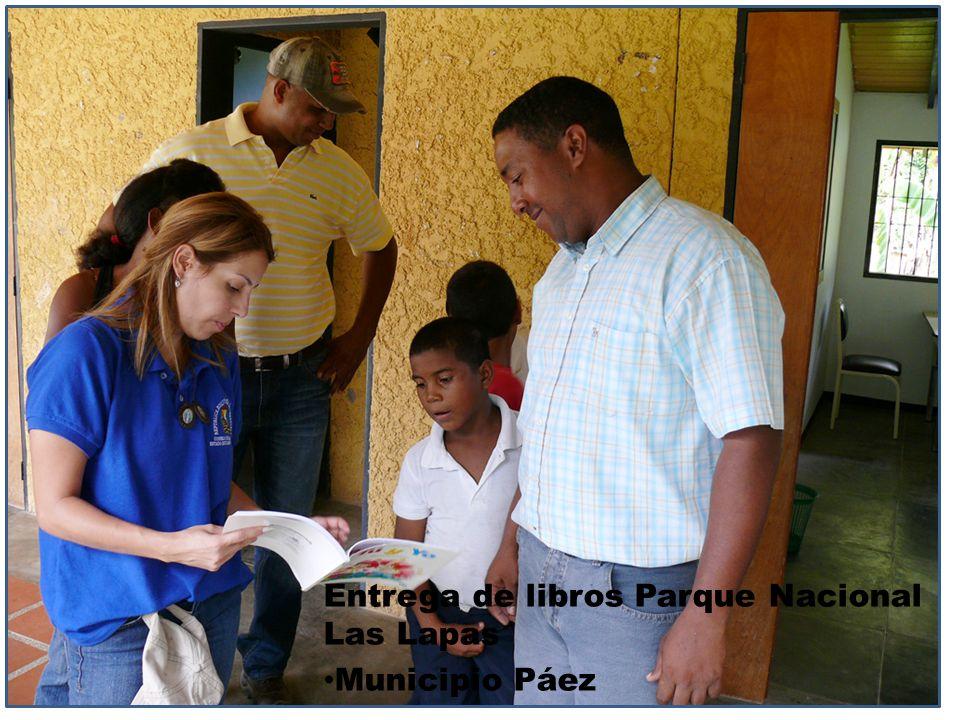 Entrega de libros Parque Nacional Las Lapas Municipio Páez