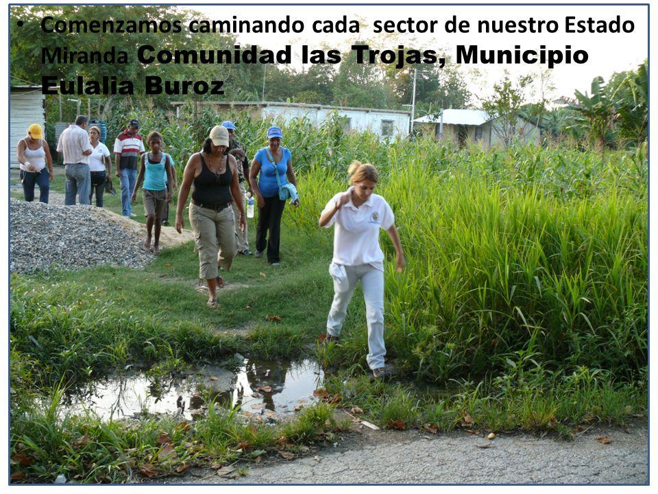 Comenzamos caminando cada sector de nuestro Estado Miranda Comunidad las Trojas, Municipio Eulalia Buroz