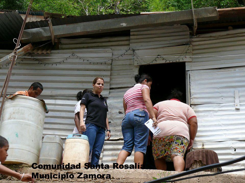 Comunidad Santa Rosalía Municipio Zamora