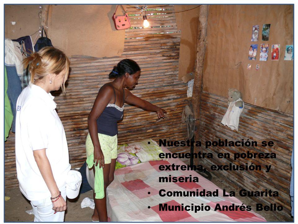 Nuestra población se encuentra en pobreza extrema, exclusión y miseria Comunidad La Guarita Municipio Andrés Bello