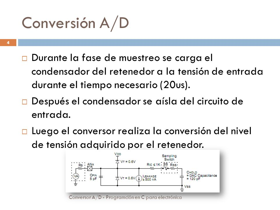 Módulo conversor Conversor A/D - Programción en C para electrónica 5