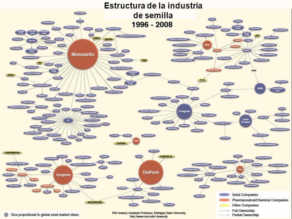 Estructura de la industria de semilla