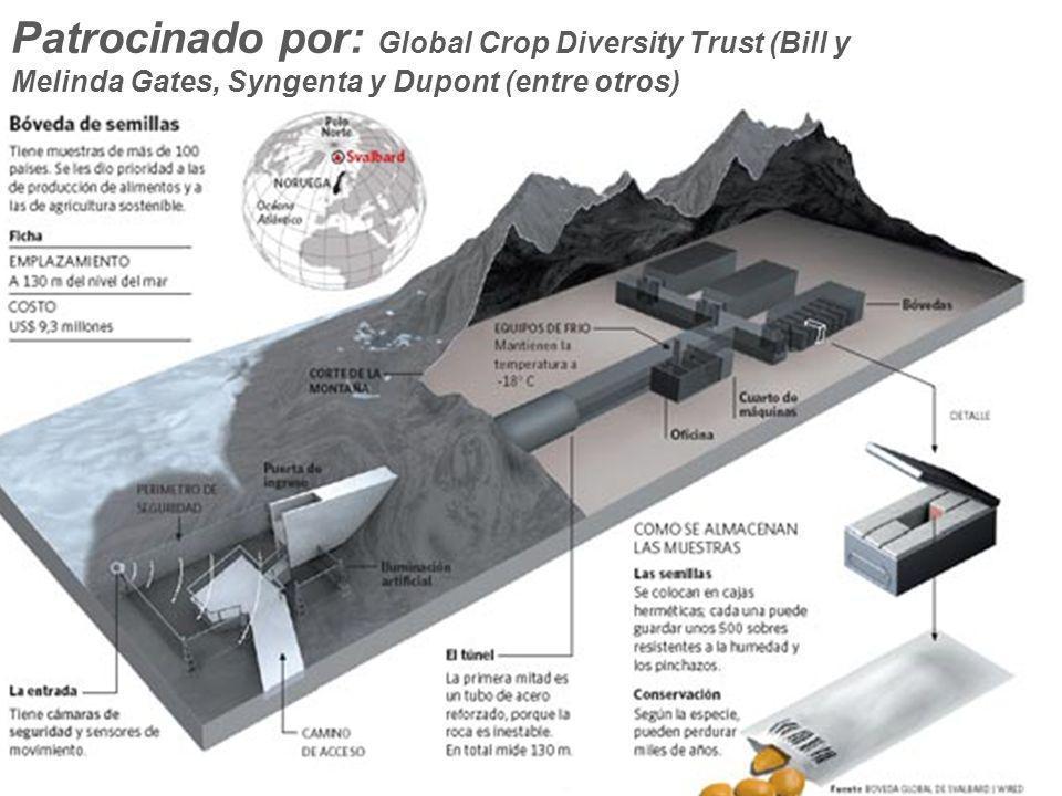 Patrocinado por: Global Crop Diversity Trust (Bill y Melinda Gates, Syngenta y Dupont (entre otros)