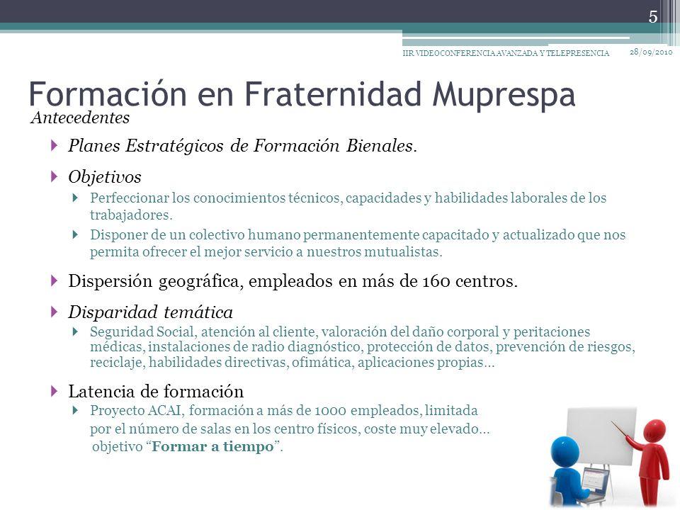 Formación en Fraternidad Muprespa Planes Estratégicos de Formación Bienales.