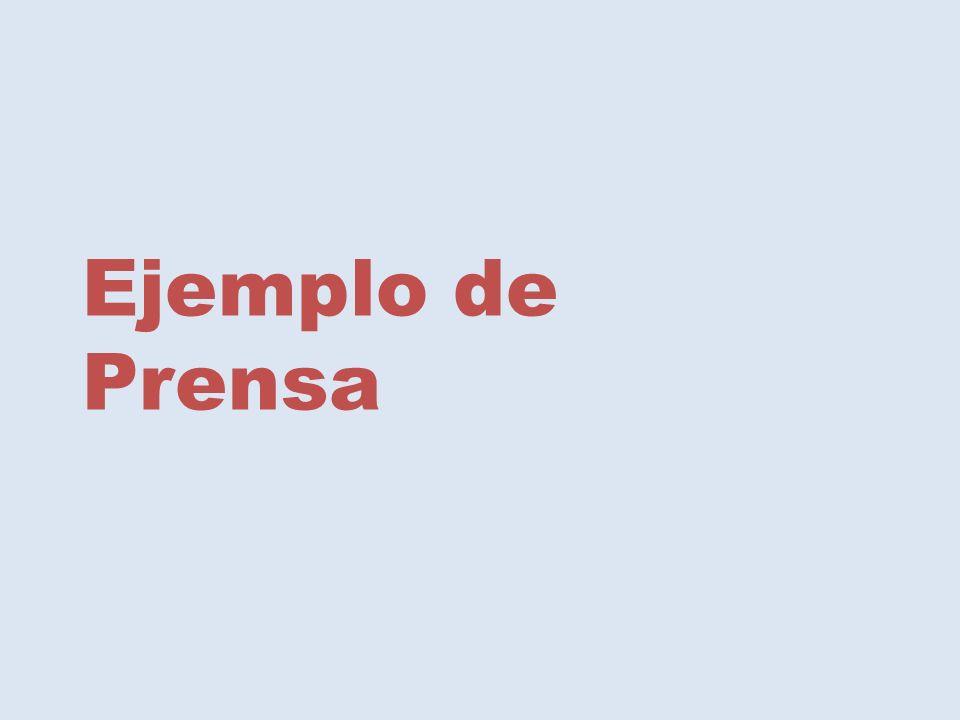 Ejemplo de Prensa