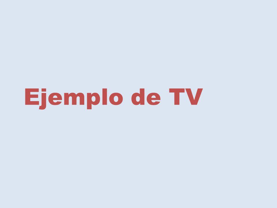 Ejemplo de TV