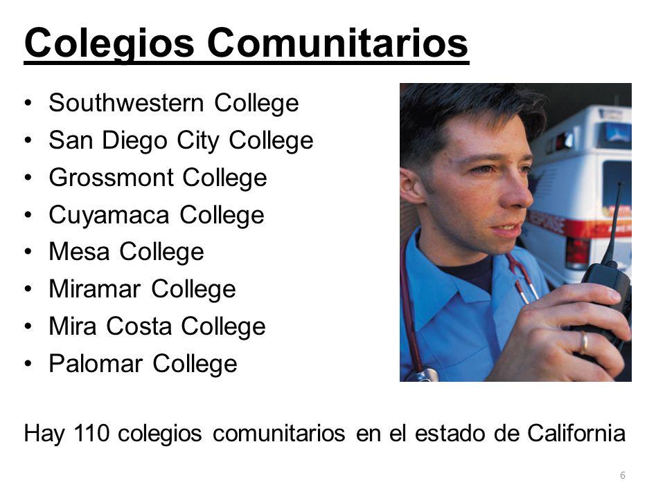 Colegios Comunitarios Southwestern College San Diego City College Grossmont College Cuyamaca College Mesa College Miramar College Mira Costa College P