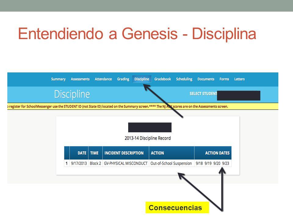 Entendiendo a Genesis - Disciplina Consecuencias