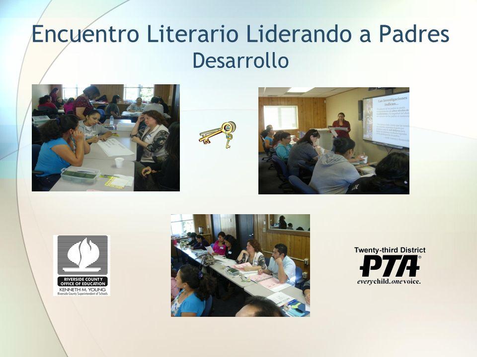 Encuentro Literario Liderando a Padres Desarrollo