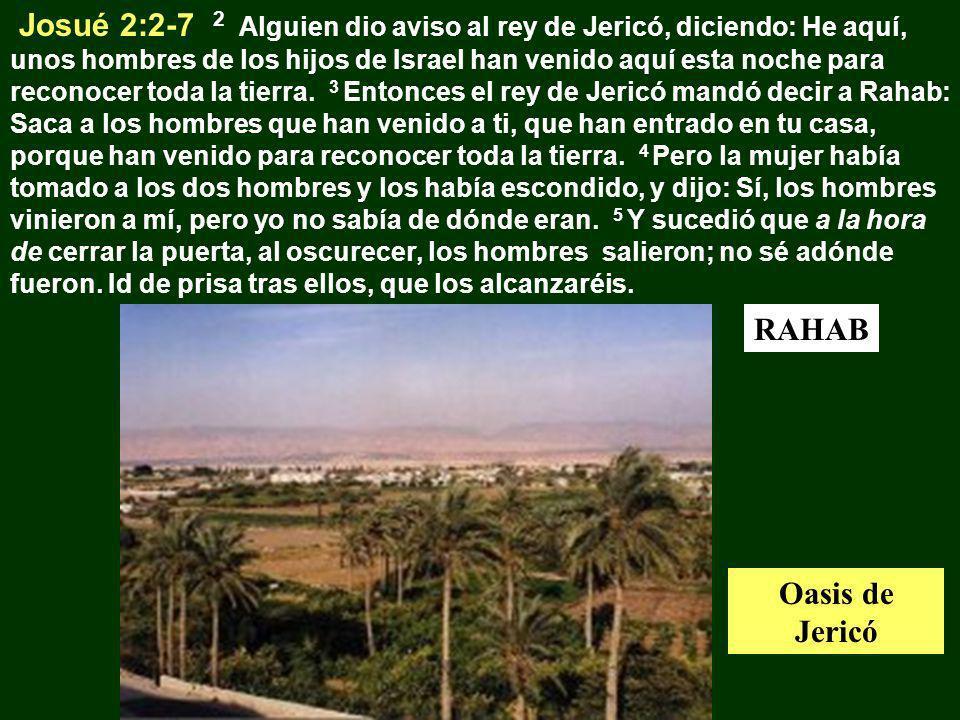 Josué 2:2-7 2 Alguien dio aviso al rey de Jericó, diciendo: He aquí, unos hombres de los hijos de Israel han venido aquí esta noche para reconocer tod