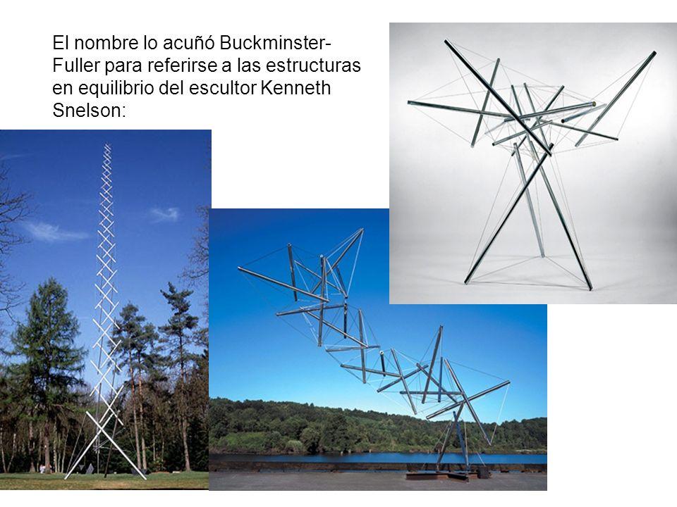 El nombre lo acuñó Buckminster- Fuller para referirse a las estructuras en equilibrio del escultor Kenneth Snelson: