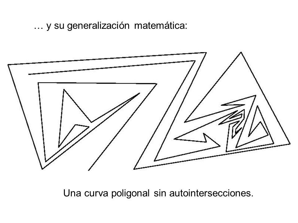 … y su generalización matemática: Una curva poligonal sin autointersecciones.