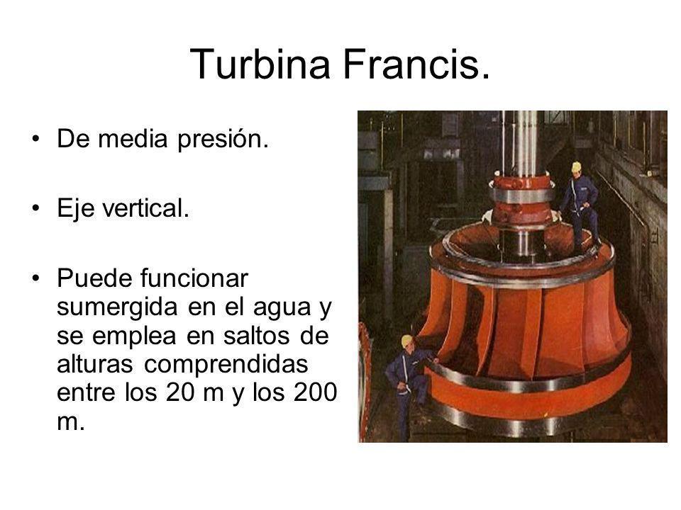 Turbina Francis.De media presión. Eje vertical.