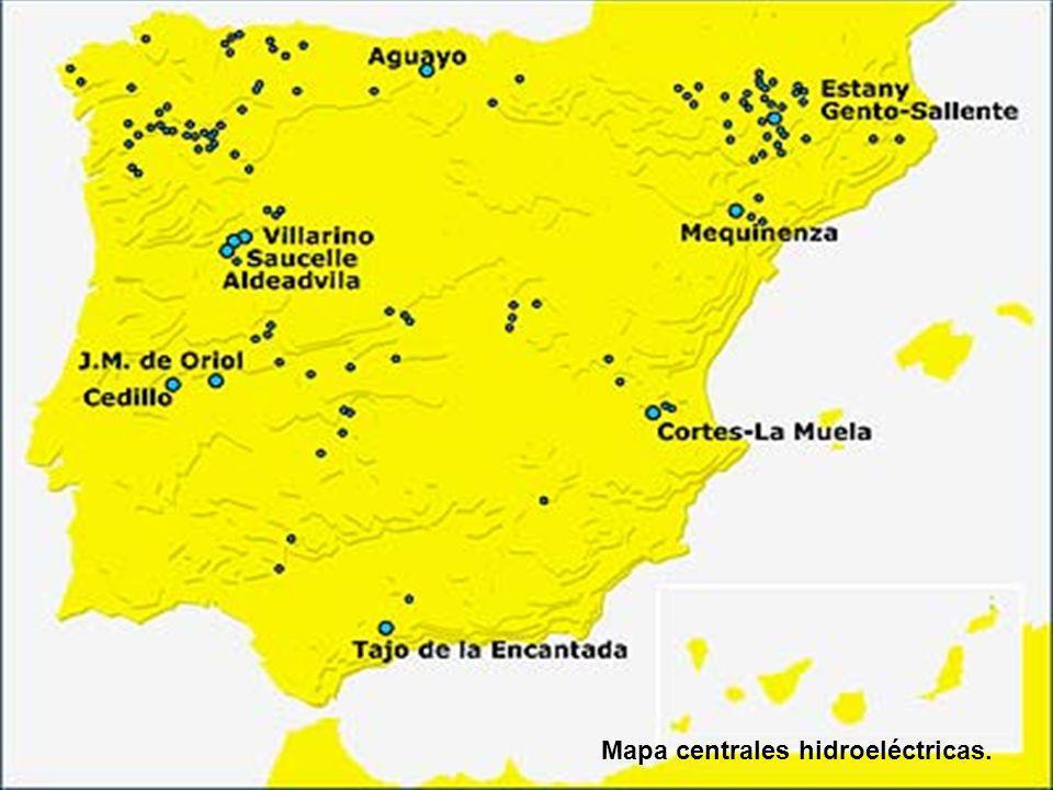 Mapa centrales hidroeléctricas.
