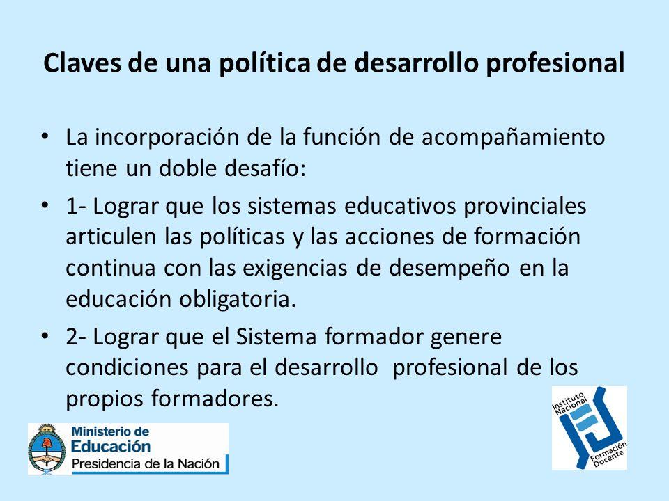 Cuestiones a considerar en las instituciones formadoras ¿ Cómo se van consolidando prácticas necesarias para dar identidad a esta nueva función del sistema formador.