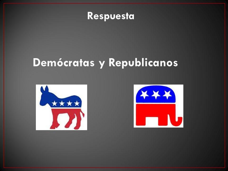 Respuesta Demócratas y Republicanos