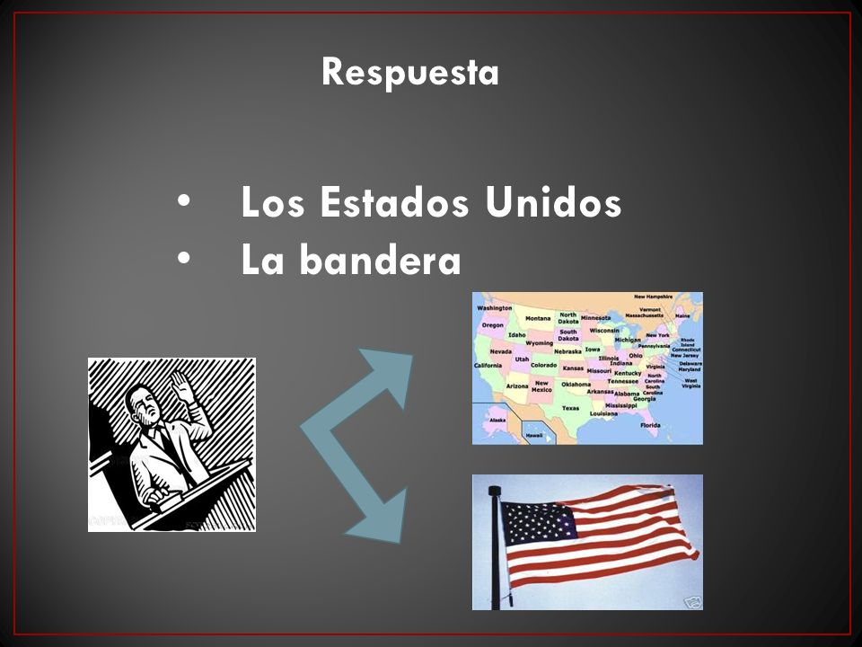 Los Estados Unidos La bandera Respuesta