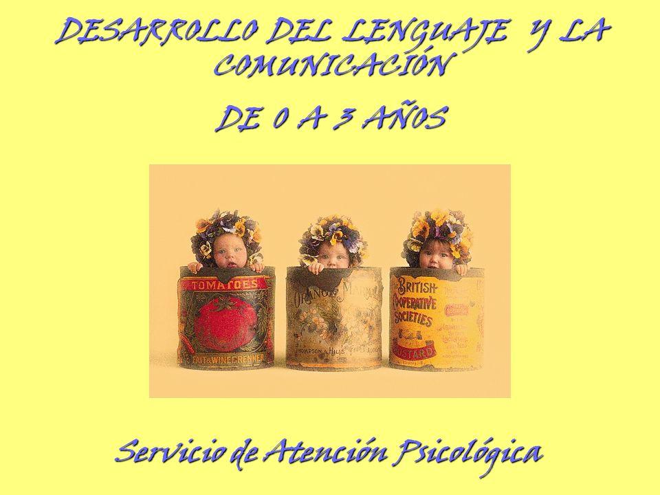 Servicio de Atención Psicológica DESARROLLO DEL LENGUAJE Y LA COMUNICACIÓN DE 0 A 3 AÑOS